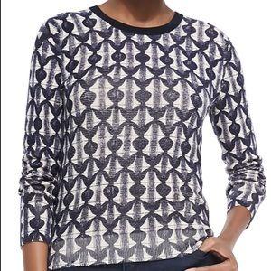 TORY BURCH Tia Print Merino Wool Sweater